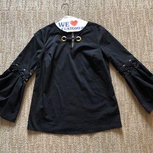 Michael Kors Black bell sleeve blouse